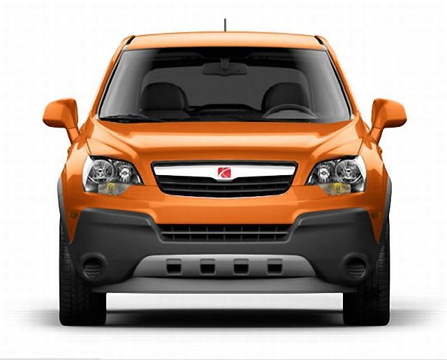 Front View Orange 2008 Saturn Vue CUV Picture