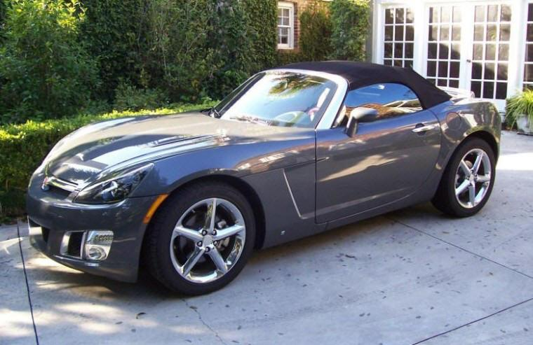 Left Side 2009 Saturn Sky Convertible Car Picture