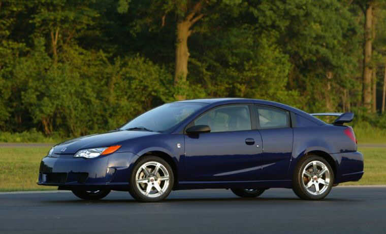 Front left blue 2004 Saturn Ion Car Picture