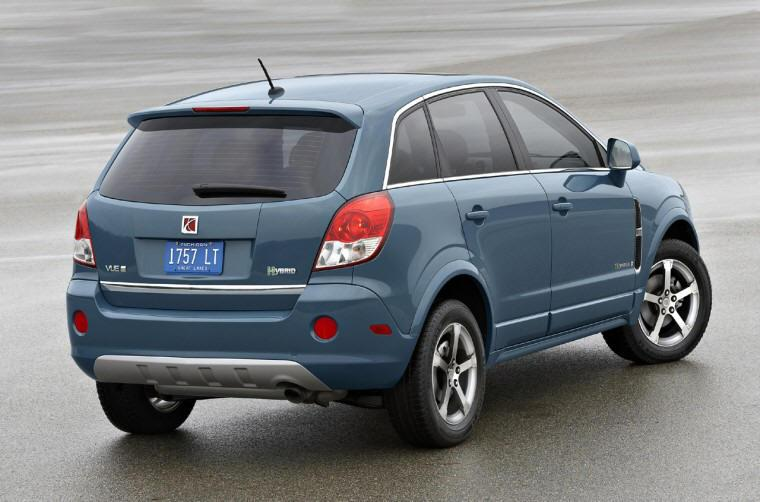 Rear right blue 2008 Saturn Vue CUV Picture