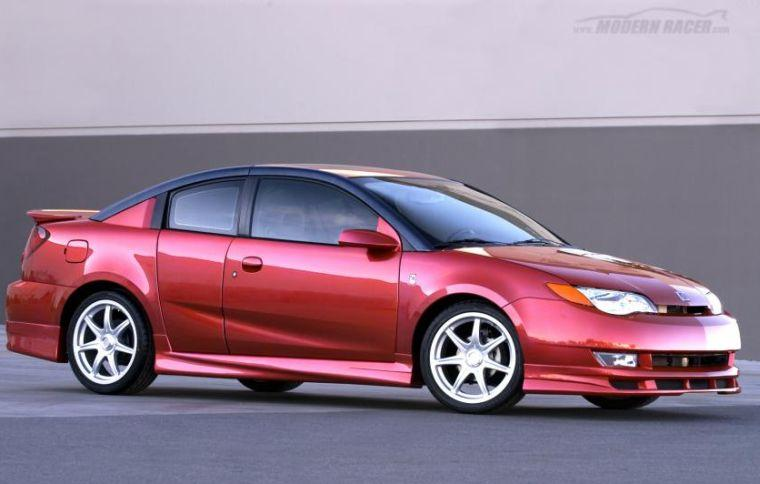 Front right red Saturn Ion Coupe Car Picture
