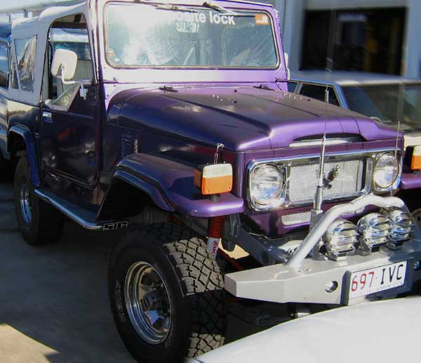 Front right purple 1973 Toyota Land Cruiser SUV Picture