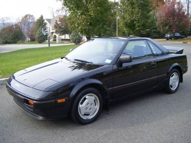 Front Left Black 1986 Toyota MR2 Car Picture