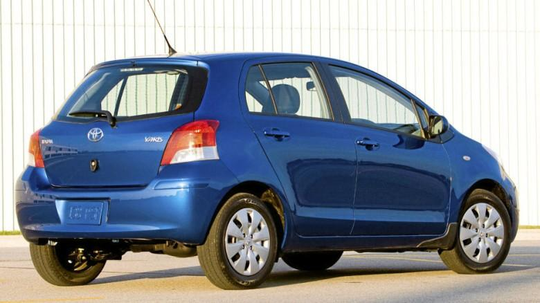 Rear Right Blue 2011 Toyota Yaris LE Car Picture
