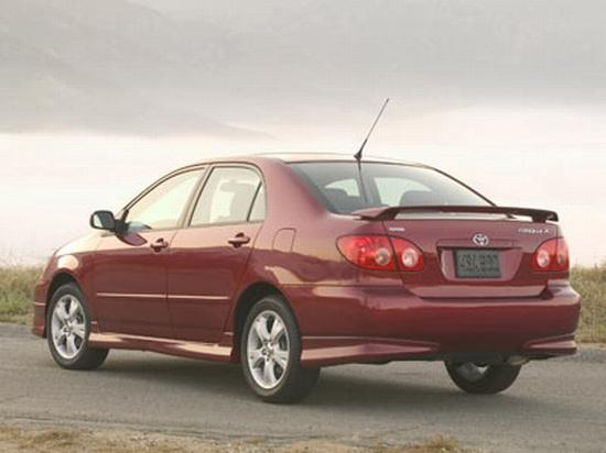 Rear left maroon 2006 Toyota Corolla Car Picture