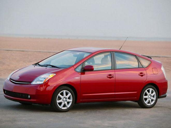 Front left red 2007 Toyota Prius Hybrid Car Picture