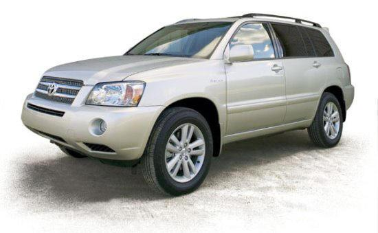 Front left silver 2006 Toyota Highlander Hybrid Car Picture