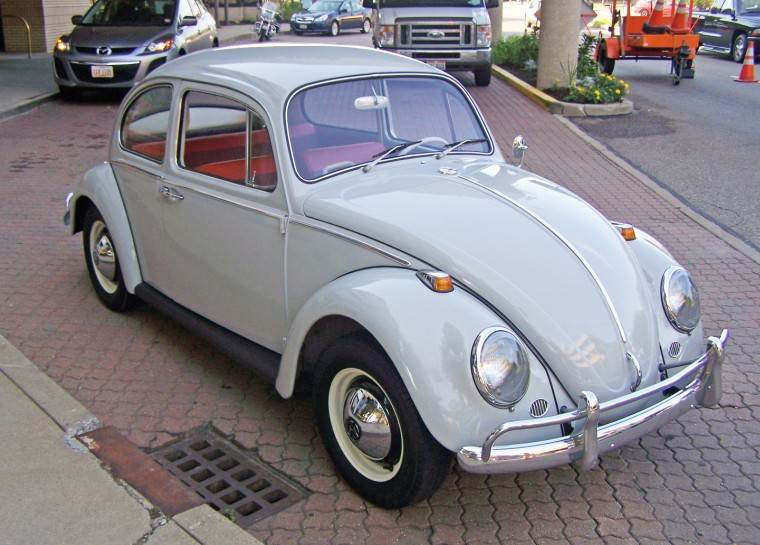 Front Right Gray 1959 Volkswagen Beatle Car Picture