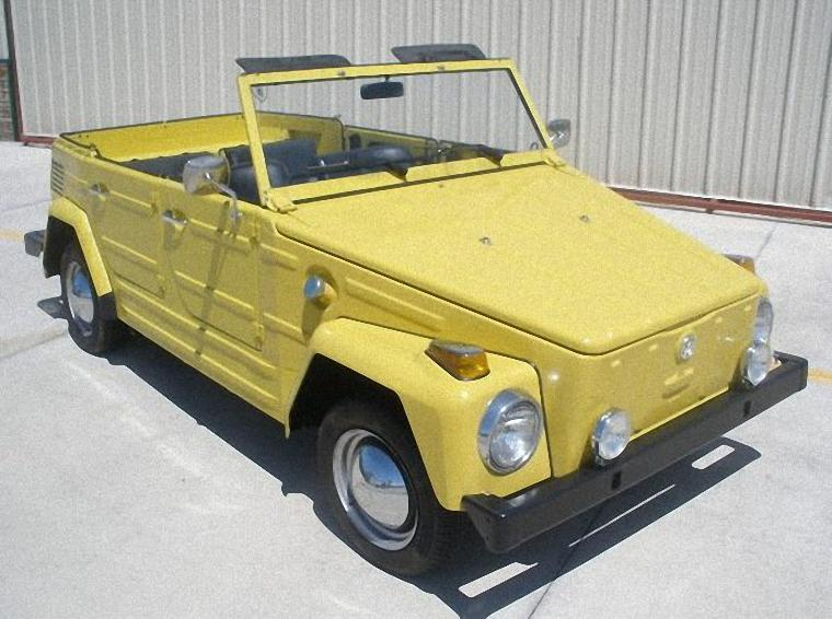 Front Right Yellow 1973 Volkswagen Thing Car Picture