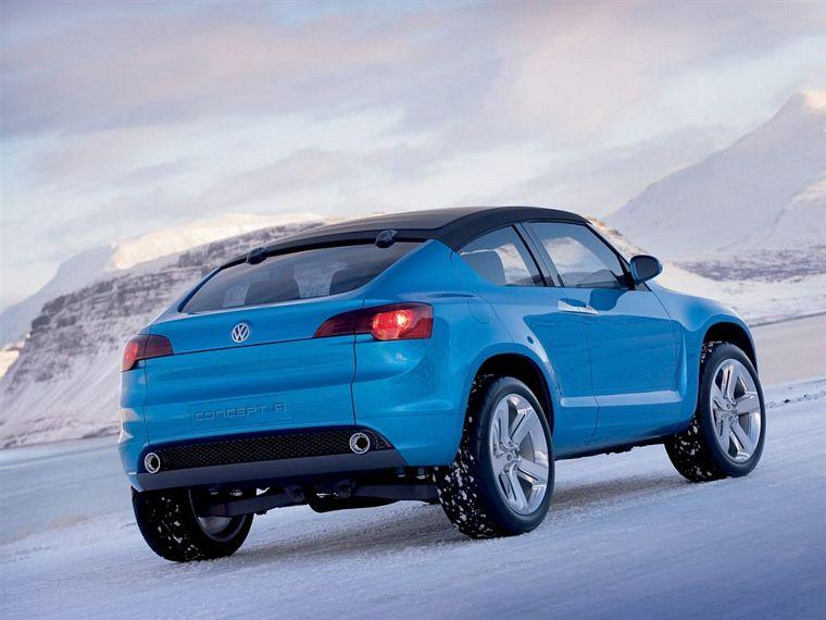 Rear right blue 2006 Volkswagen Concept A Car Picture