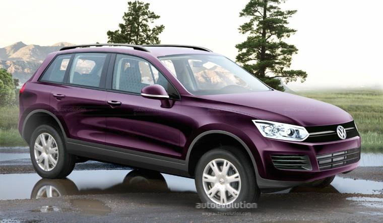Front Right Burgandy 2011 Volkswagen Touareg CUV Picture