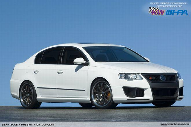 Front right white 2005 Volkswagen Passat R-GT Concept Car Picture