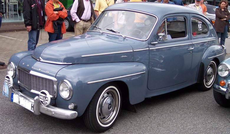 Front Left Blue 1965 Volvo 544 Car Picture