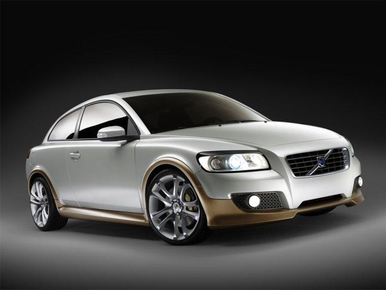 Front right silver 2006 Volvo C30 Concept Car Picture