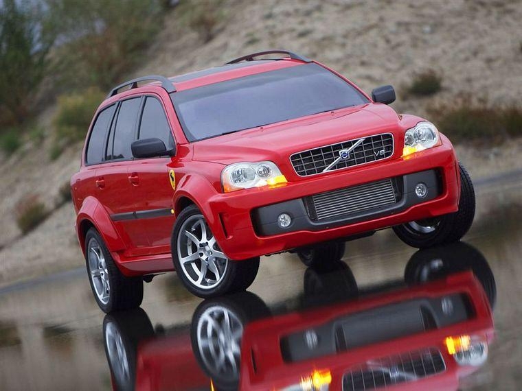 Front right red 2005 Volvo XC90 SUV Picture