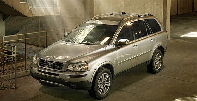 Front left silver 2007 Volvo XC90 SUV Picture